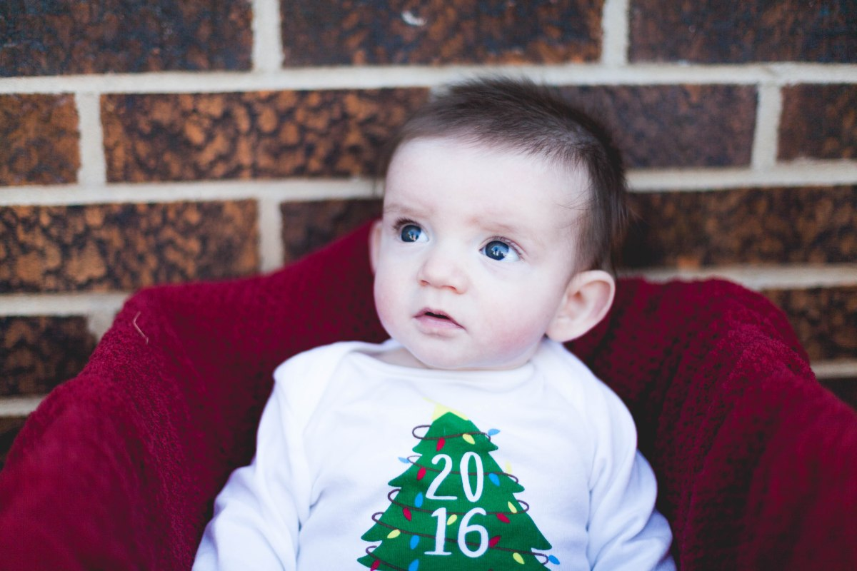 Henry's First ChristmasPhotoshoot